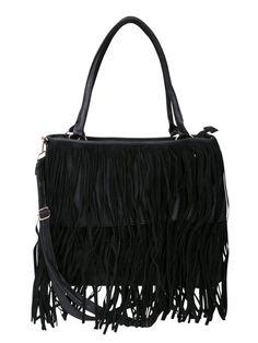 Torebka damska - XYH0025 - modne i eleganckie torebki damskie - txm24.pl czarna