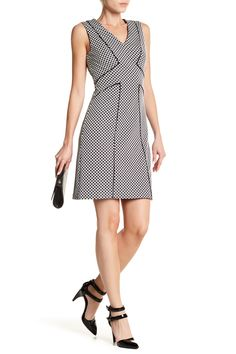 Dotted Knit Jacquard Sheath Dress (Regular, Petite, & Plus Size) by Adrianna Papell on @nordstrom_rack