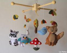 Baby Crib Mobile  Baby Mobile  Nursery Forest by LesPetitesshop