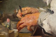 "''The investigation, doctor Samarroand his laboratory"" ''Details of hands by the master Joiquin Sorolla. Museum Sorolla in Madrid, Spain. Figure Painting, Figure Drawing, Close Up Art, Spanish Art, Expressive Art, Great Paintings, Traditional Paintings, Classical Art, Illustration Sketches"