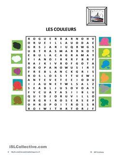 mot caché LES COULEURS | Gratuit FLE worksheets
