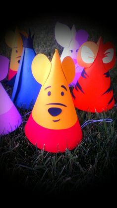 Winnie the Pooh Birthday Party Hats Pooh & by MagicalBoutique, $25.00
