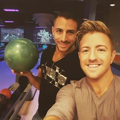 """134 Likes, 2 Comments - Chris Meyer (@meyerflies) on Instagram: """"Friday night bowling with my baby :) @billy__gilman #friday #weekend #bowling #boyfriends"""""""