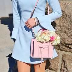 I love flowers  Here's a peek at a springy look coming to my blog #springstyle #pastel