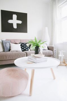 A SCANDINAVIAN HOME WITH FEMINE TOUCHES