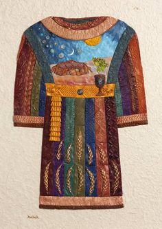 """Yosef's Coat- Mosaic"" by Michoel Muchnik.  Find more festive prints at www.imagekind.com!"