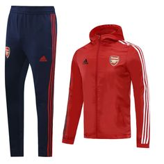 Arsenal 20/21 Red Hoodie Men Windbreaker Suit – zorrojersey
