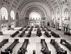 Waiting at Union Station Washington DC, early 1920s: