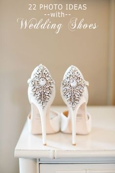 gorgeous vintage bling ivory wedding shoes