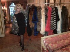 Fashion Police with Joan Rivers's assortment of Helen Yarmak Furs