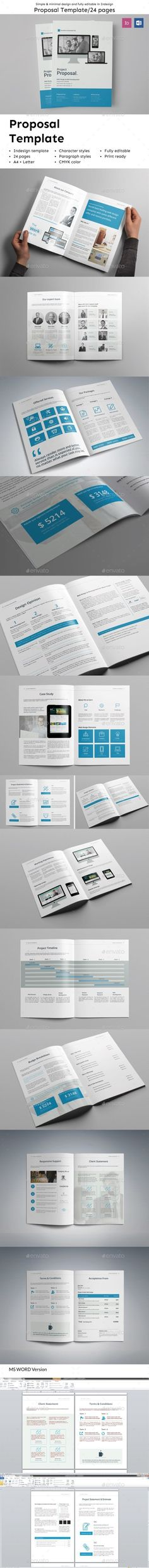 Web Proposal  Invoice Template Indesign Indd Download Here Http