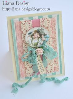 "Shabby Chic Card ""In Love"" by Liana Elbekova"