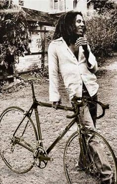 Bob Marley and his bike
