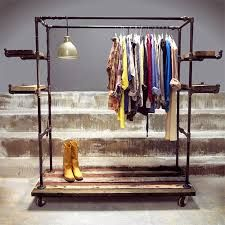 copper clothes rails display - Google Search