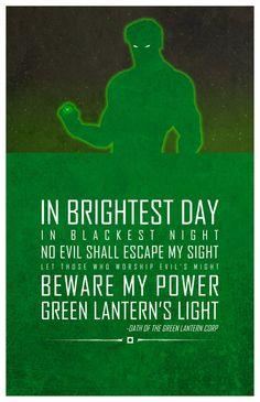 Green Lantern. Super hero quotes
