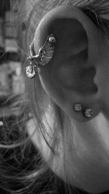 Aurora Gem Eagle Bird Helix Cartilage Earring   Body Candy Body Jewelry
