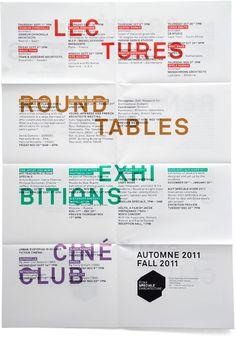 flyer forlÉcole Spéciale dArchitecture conference by Studio Plastac
