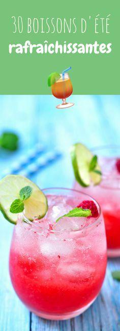 Limonade, citronnade, cocktails... 30 boissons faciles et rafraîchissantes pour l'été !