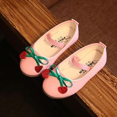 Oh My God!!! Cutest Cherry Princess Shoes! ONLY$14.48. Also, size are available, for 1-8 years old girl. #Popreal #cherry shoes #princess shoes #kids shoes #cherry #fashion shoes