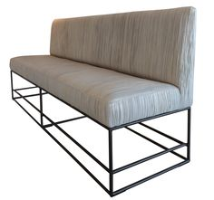 Viete Bench  Contemporary, MidCentury  Modern, Transitional, Upholstery  Fabric, Metal, Leather, Bench by Larkin Gaudet, Llc