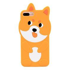 iPhone 7 Plus Case, MC Fashion Cute 3D Puppy Dog Shiba Inu Animals Slim Soft Protective Silicone Case for Apple iPhone 7 Plus (2016) and iPhone 8 Plus (2017) (Puppy#3)