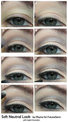 Inglot Neutrals tutorial. Pin now, try it later!