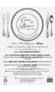 Cena in Bianco di fine Estate.