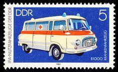 ddr barkas | Stamp_DDR_1982_MiNr_2744 Krankenwagen Barkas B 1000