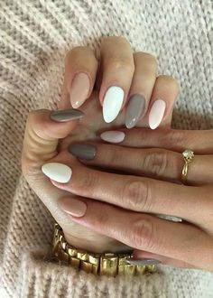 56 Perfect Almond Nail Art Designs for This Winter - Almond Nails Dream Nails, Love Nails, My Nails, Style Nails, Gorgeous Nails, Classy Nails, Trendy Nails, Classy Almond Nails, Cute Easy Nails