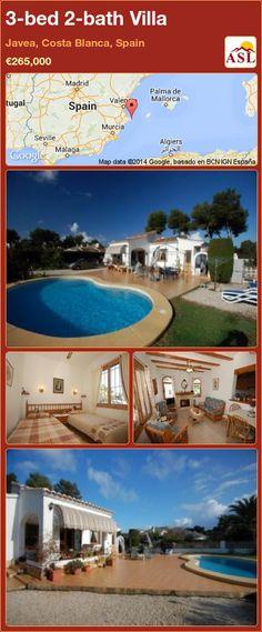 3-bed 2-bath Villa in Javea, Costa Blanca, Spain ►€265,000 #PropertyForSaleInSpain