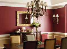 Red and Yellow dining room.
