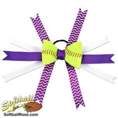 Softball Hair Bow Purple White Chevrons by SportsRoses on Etsy Chevron Ribbon, Purple Chevron, Purple Ribbon, White Ribbon, Ribbon Colors, Softball Hair Bows, Softball Hairstyles, Different Font Styles, Making Hair Bows