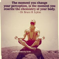 The moment you change your perception is the moment you rewrite the chemistry of your body!