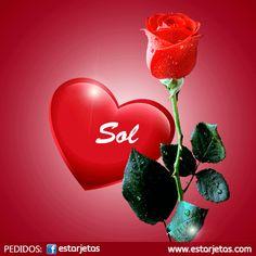 Tarjetas de rosa para Sol
