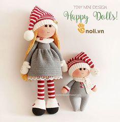 Colección de lana de ganchillo amigurumi diseñador muñeca Muy pequeño Mini Diseño (Parte 3)