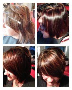 "HairStudio20 - Boykin & Marci - www.hairstudio20.com - Client Tammy Mosley requesting her ""Fall Runway Red""!!! #boykinsean #seanboykin"