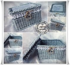 KOŠE, OŠATKY A OSTATNÍ - pletení z papíru Newspaper Basket, Kos, Origami, Baskets, Decorative Boxes, Arts And Crafts, Home Decor, Photograph Album, Basket