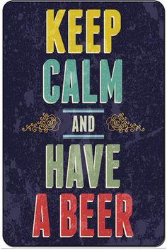 Keep Calm and Have A Beer Metal Street Sign Man Cave Bar Decor 8x12 SN D084 | eBay