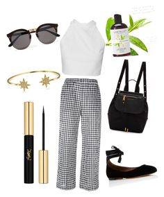 """""""Lunch"""" by marleigh-erin on Polyvore featuring Aspesi, Tabitha Simmons, Marc Jacobs, Illesteva, Bling Jewelry and Yves Saint Laurent"""