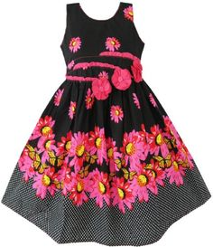 BK22 Girls Dress 3 Rose Yellow Flower Party Child Clothes Size 9-10 Sunny Fashion,http://www.amazon.com/dp/B009YB67Q2/ref=cm_sw_r_pi_dp_9EfDsb1HKBYES2P4