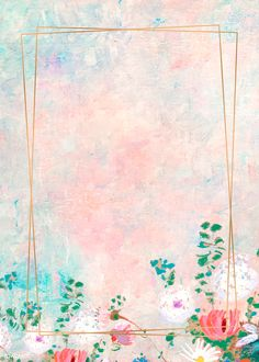 Rectangle gold frame on pastel background vector Fall Background Wallpaper, Pastel Background Wallpapers, Framed Wallpaper, Flower Backgrounds, Background Patterns, Cute Wallpapers, Paint Background, Cute Pastel Background, Pastel Artwork