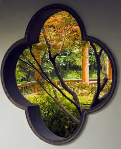 A window to the secret garden! Chinese Element, Chinese Art, China Garden, China Architecture, Chinese Interior, Travel Sights, Garden Windows, Great Wall Of China, Suzhou