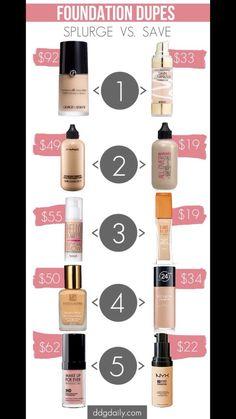 Makeup Dupes #Beauty #Trusper #Tip