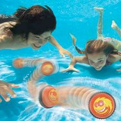 Crazy Chase Dive Ball is an interactive dive game that keeps swimmers guessing where it will go.