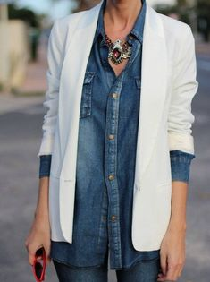 Camisa jeans para todas as horas! - Moda it