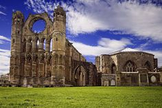 Scotland - Elgin Cathedral was founded in 1224 and almost completely finished by 1300. This relatively short time span of construction means that it is a wonderfully intact example of early Gothic style.
