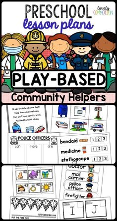 Community Helpers Preschool Discover Preschool Lesson Plans- Community Helpers Incorporate learning and fun with this preschool Community Helpers theme! Two weeks of play-based lesson plans done and ready for you! Kindergarten Lesson Plans, Preschool Lessons, Preschool Learning, Daycare Lesson Plans, Preschool Writing, Preschool Class, Kindergarten Activities, Community Helpers Lesson Plan, Community Helpers Crafts