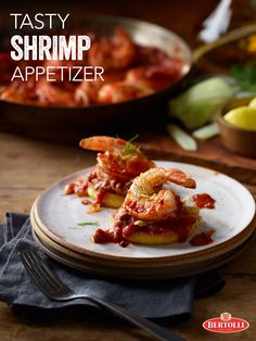 This delicious and simple Shrimp and Polenta appetizer recipe, featuring Bertolli® Traditional Marinara with Italian Herbs & Fresh Garlic Sauce, is perfect for entertaining and will always leave your guests wanting more.