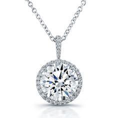 Rahaminov round brilliant diamond pendant