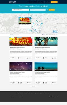 Free Events Website Template, #Event, #Flat, #Free, #Layout, #PSD, #Resource, #Template, #Web #Design